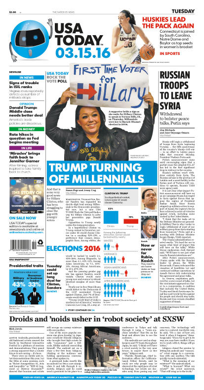 03/15/2016 Issue of USA TODAY