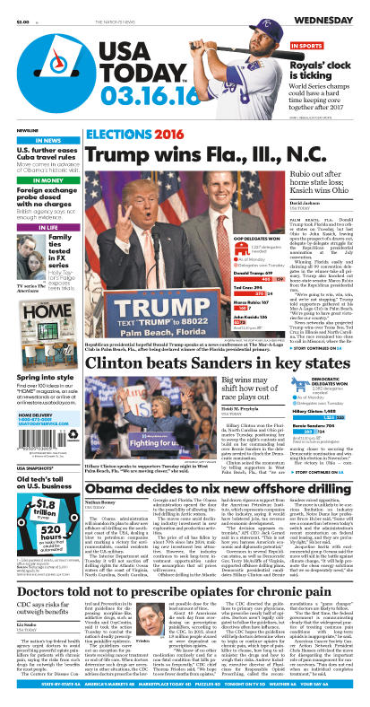 03/16/2016 Issue of USA TODAY