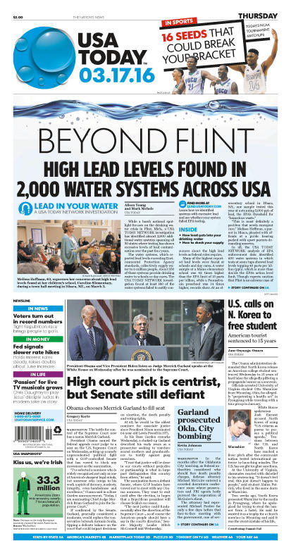 03/17/2016 Issue of USA TODAY