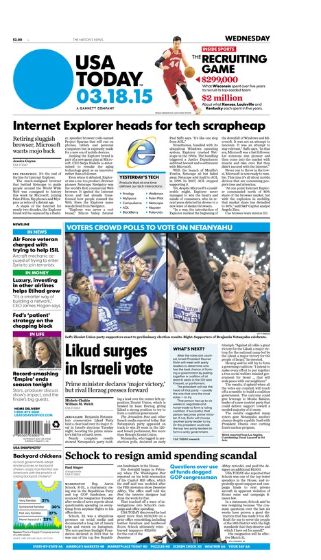 03/18/2015 Issue of USA TODAY