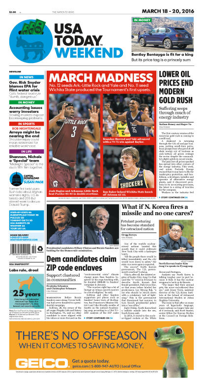 03/18/2016 Issue of USA TODAY