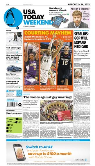 03/22/2013 Issue of USA TODAY