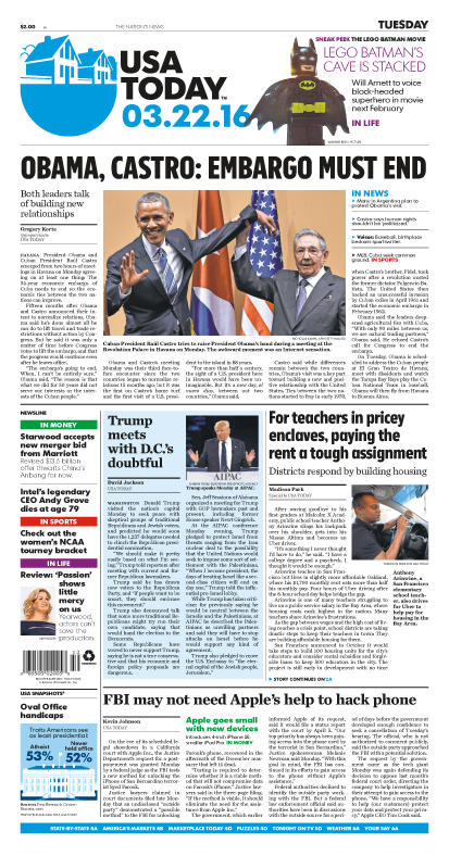 03/22/2016 Issue of USA TODAY