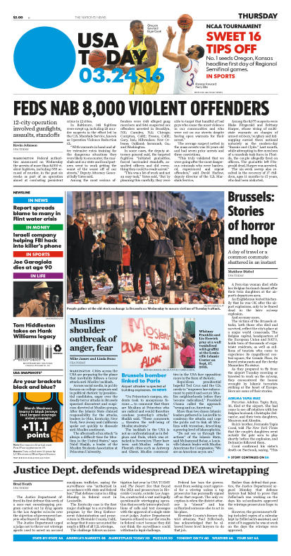 03/24/2016 Issue of USA TODAY