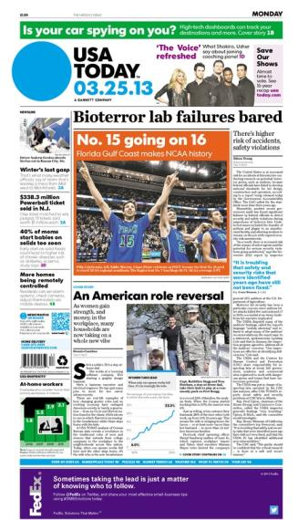 03/25/2013 Issue of USA TODAY