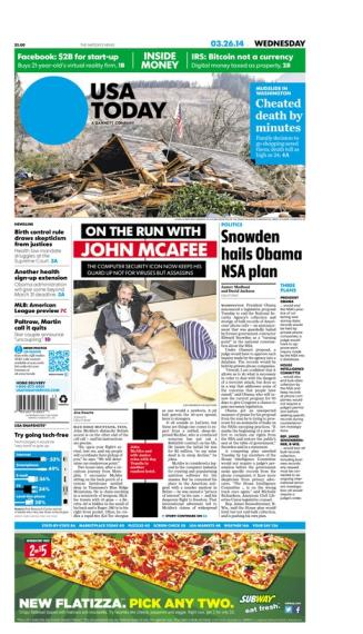03/26/2014 Issue of USA TODAY MAIN