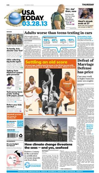 03/28/2013 Issue of USA TODAY