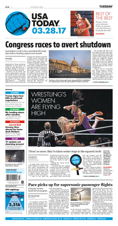 03/28/2017 Issue of USA TODAY MAIN