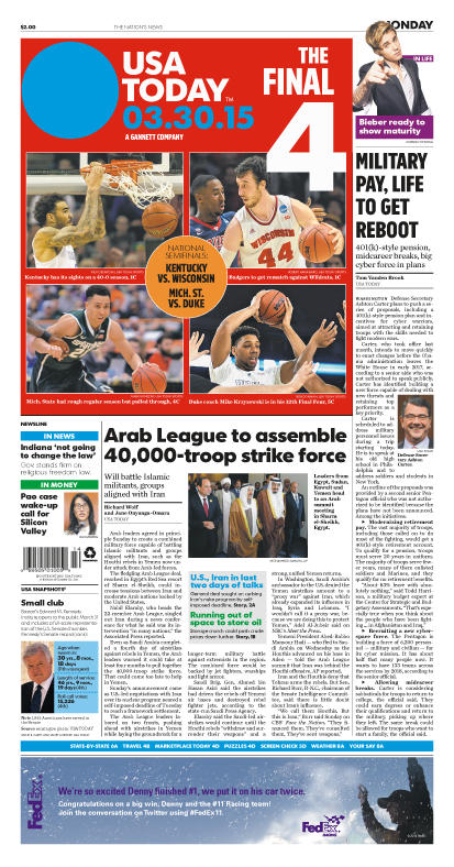 03/30/2015 Issue of USA TODAY