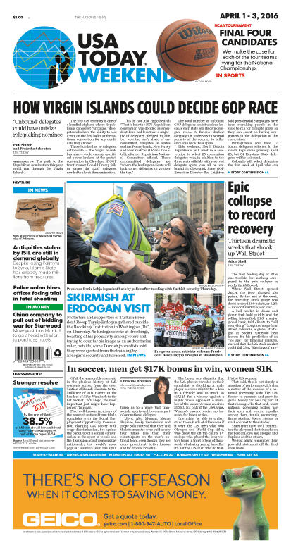 04/01/2016 Issue of USA TODAY