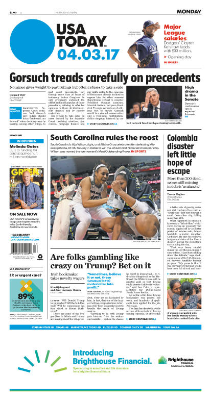 04/03/2017 Issue of USA TODAY