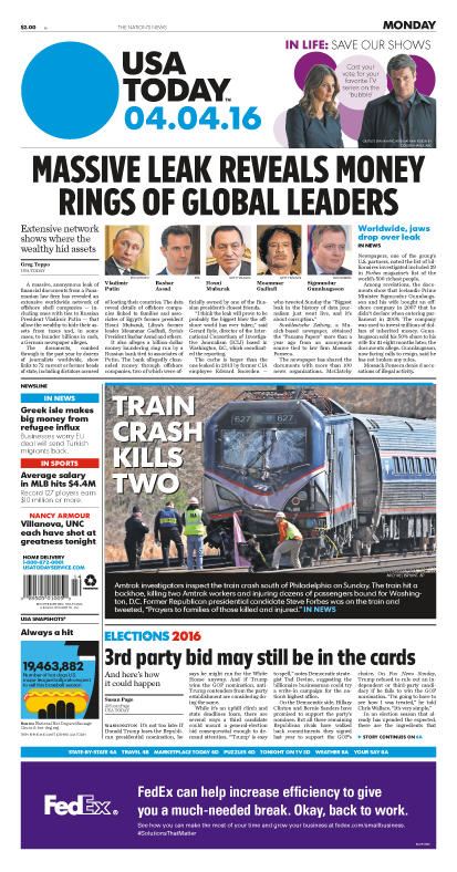04/04/2016 Issue of USA TODAY