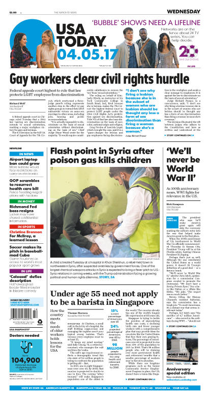 04/05/2017 Issue of USA TODAY MAIN