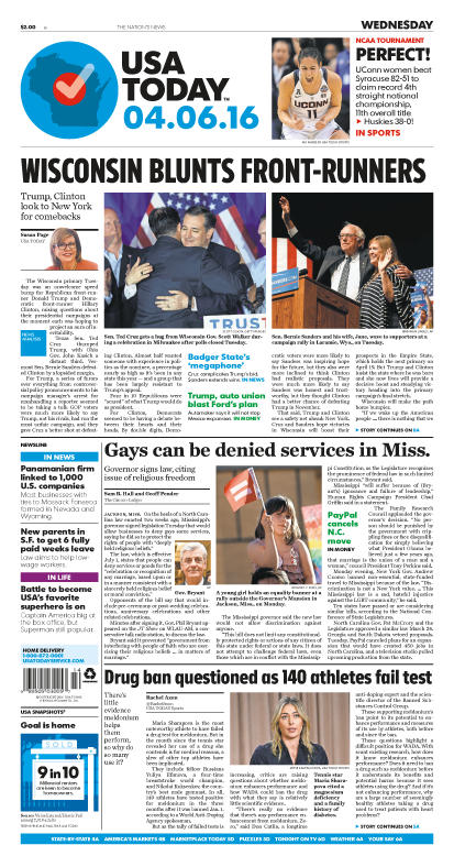 04/06/2016 Issue of USA TODAY