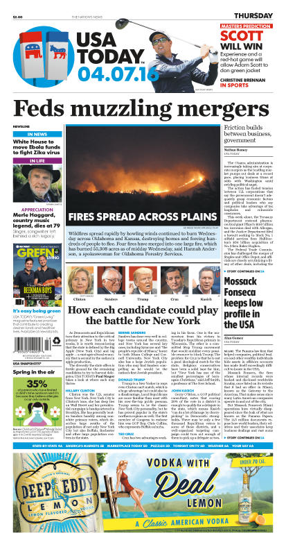 04/07/2016 Issue of USA TODAY