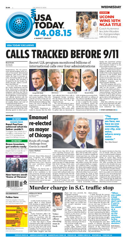 04/08/2015 Issue of USA TODAY