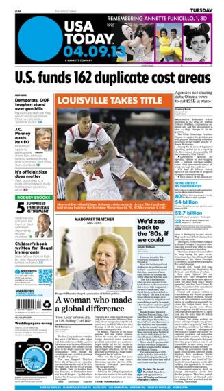 04/09/2013 Issue of USA TODAY