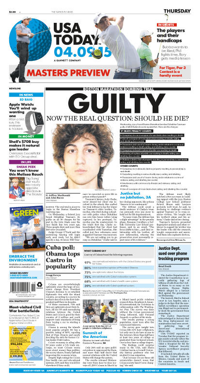 04/09/2015 Issue of USA TODAY