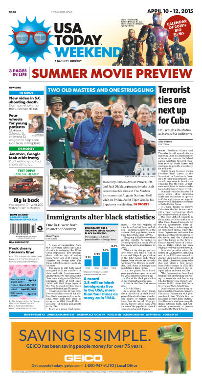 04/10/2015 Issue of USA TODAY
