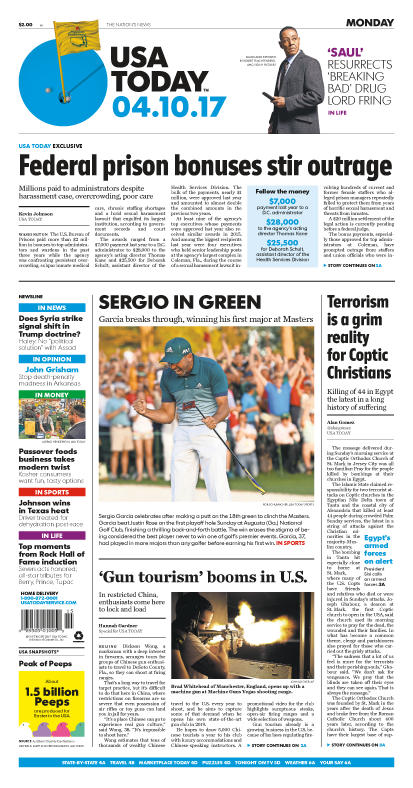 04/10/2017 Issue of USA TODAY MAIN