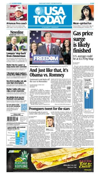 04/11/2012 Issue of USA TODAY
