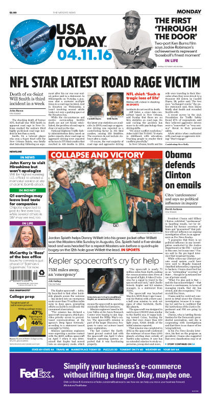 04/11/2016 Issue of USA TODAY