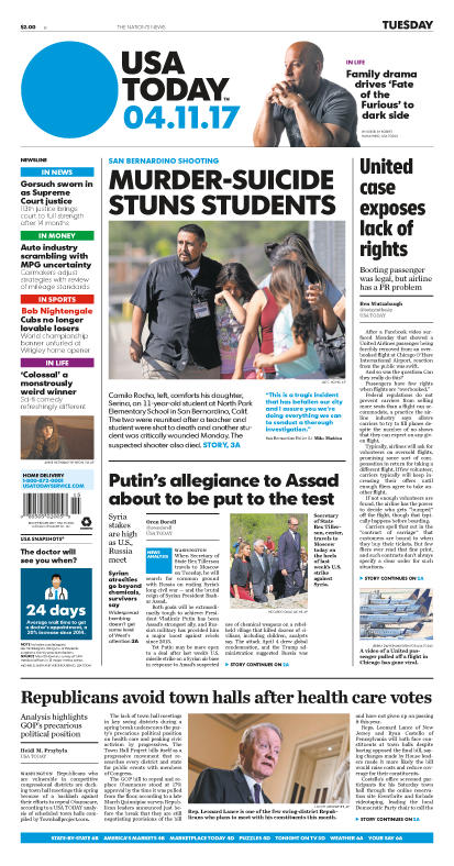 04/11/2017 Issue of USA TODAY MAIN