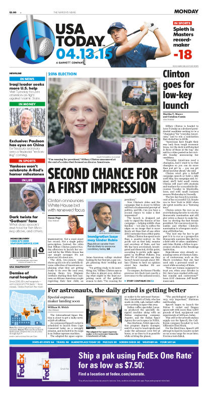 04/13/2015 Issue of USA TODAY