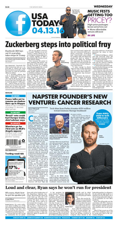 04/13/2016 Issue of USA TODAY