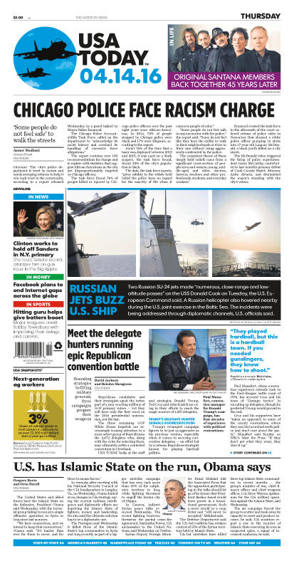 04/14/2016 Issue of USA TODAY