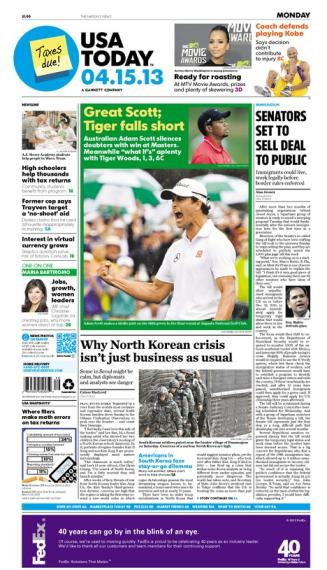 04/15/2013 Issue of USA TODAY