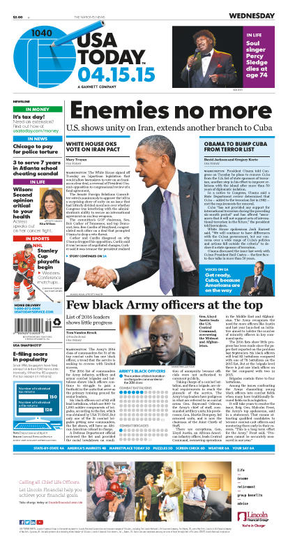 04/15/2015 Issue of USA TODAY