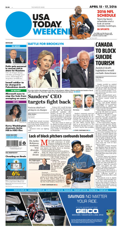 04/15/2016 Issue of USA TODAY