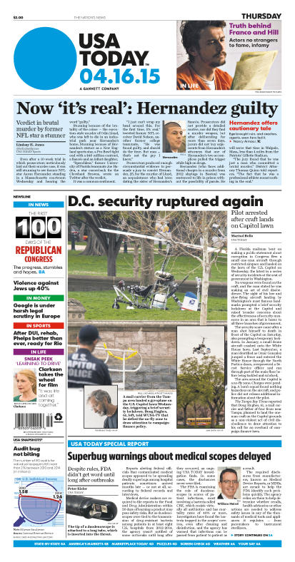 04/16/2015 Issue of USA TODAY