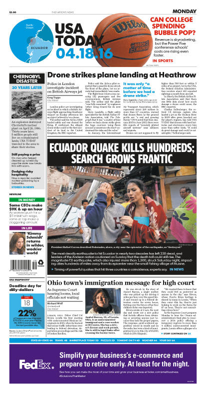 04/18/2016 Issue of USA TODAY