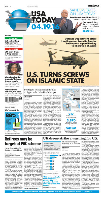 04/19/2016 Issue of USA TODAY