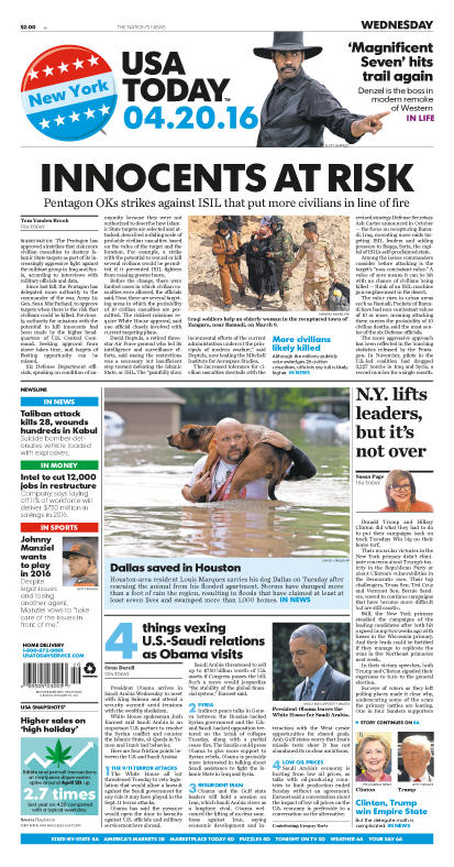 04/20/2016 Issue of USA TODAY