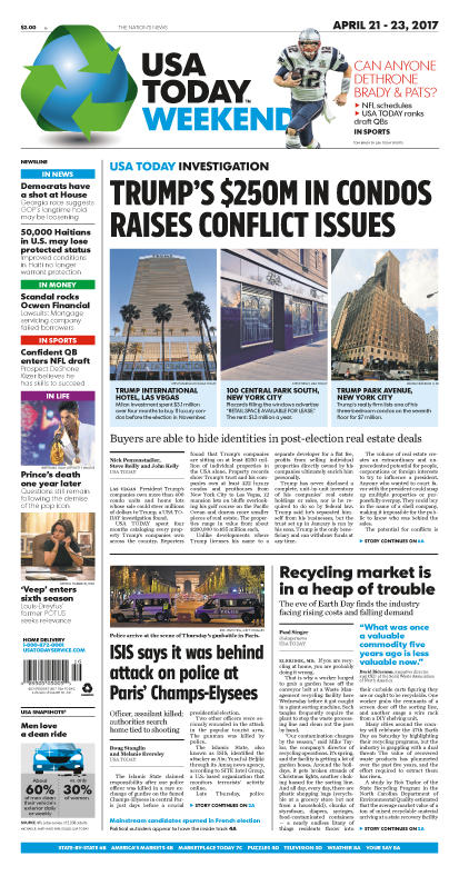 04/21/2017 Issue of USA TODAY MAIN