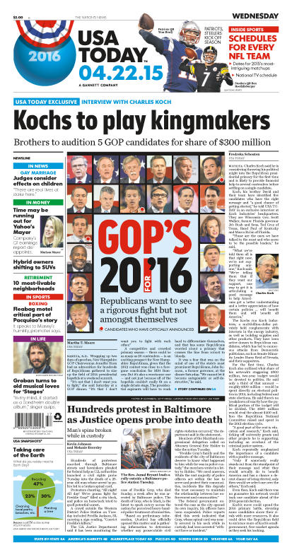 04/22/2015 Issue of USA TODAY
