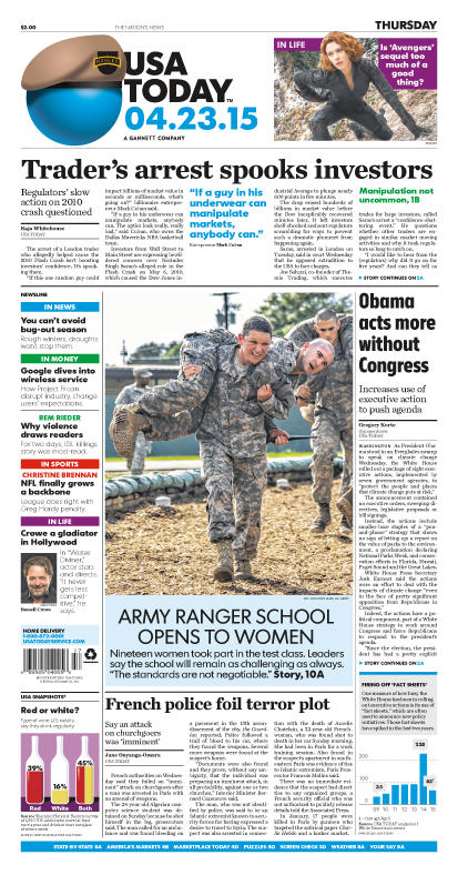 04/23/2015 Issue of USA TODAY