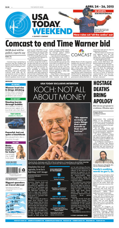 04/24/2015 Issue of USA TODAY