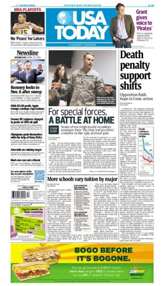04/25/2012 Issue of USA TODAY