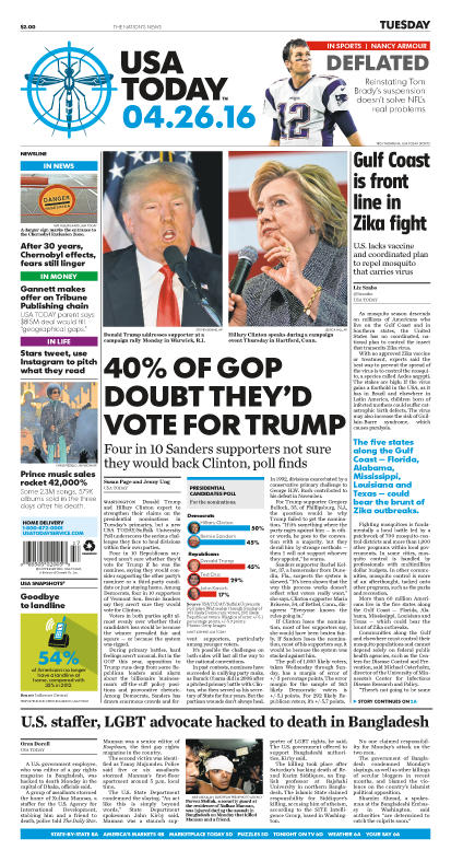 04/26/2016 Issue of USA TODAY