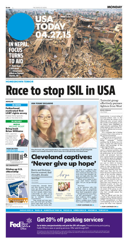 04/27/2015 Issue of USA TODAY