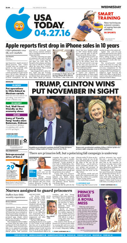 04/27/2016 Issue of USA TODAY