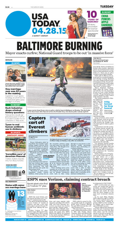 04/28/2015 Issue of USA TODAY