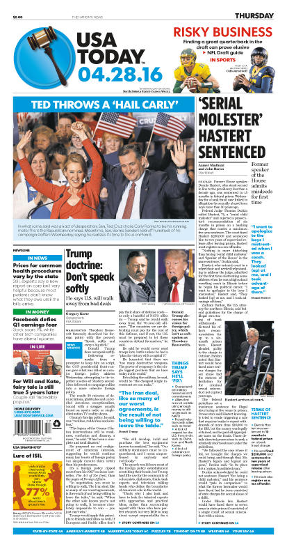 04/28/2016 Issue of USA TODAY
