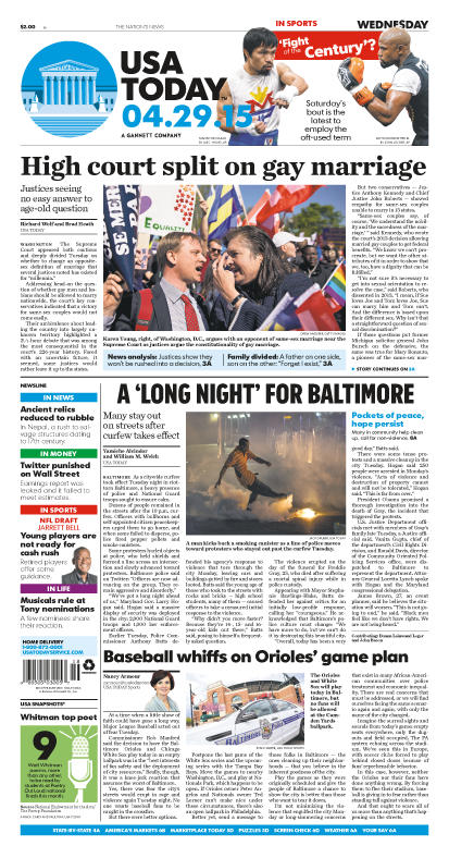 04/29/2015 Issue of USA TODAY