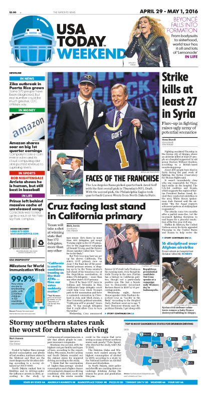 04/29/2016 Issue of USA TODAY