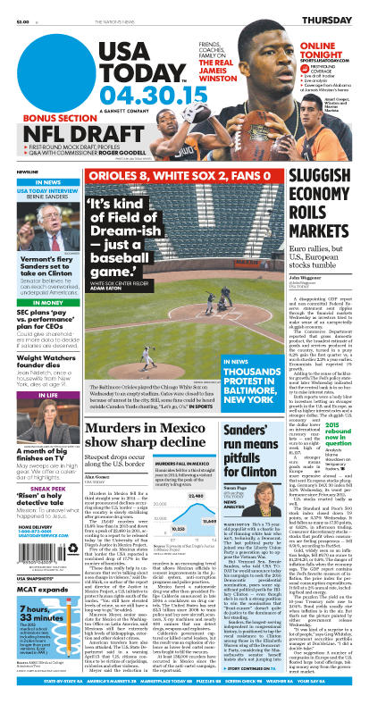 04/30/2015 Issue of USA TODAY